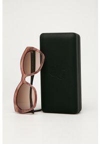 Karl Lagerfeld - Okulary przeciwsłoneczne. Kolor: różowy