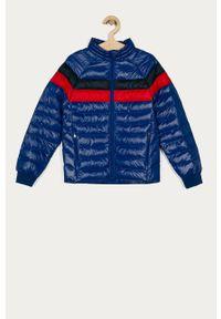 Niebieska kurtka Polo Ralph Lauren na co dzień, casualowa, bez kaptura