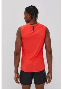 4f - 4F - T-shirt. Okazja: na co dzień. Kolor: czerwony. Materiał: włókno, dzianina. Styl: casual