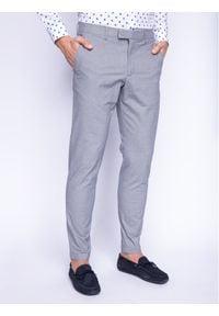Strellson Spodnie materiałowe 11 Sax-W 30019343 Szary Slim Fit. Kolor: szary. Materiał: elastan, bawełna, materiał