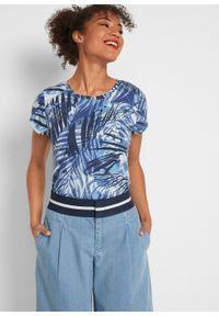 Dżinsy culotte z gumką w talii bonprix jasnoniebieski. Kolor: niebieski