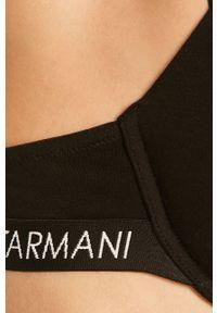 Emporio Armani Underwear - Emporio Armani - Biustonosz. Kolor: czarny. Wzór: gładki, nadruk