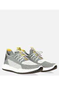 Casu - szare buty sportowe sznurowane casu 20a14/g. Kolor: żółty, wielokolorowy, szary