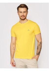 GANT - Gant T-Shirt Contrast Logo 2053004 Żółty Regular Fit. Kolor: żółty