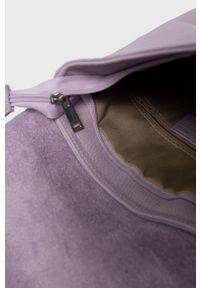 Answear Lab - Plecak skórzany. Kolor: fioletowy. Materiał: skóra. Styl: wakacyjny
