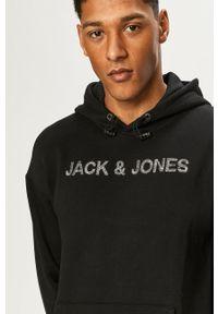 Jack & Jones - Bluza. Okazja: na co dzień. Kolor: czarny. Materiał: dzianina. Wzór: gładki. Styl: casual