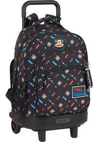 Czarny plecak retro
