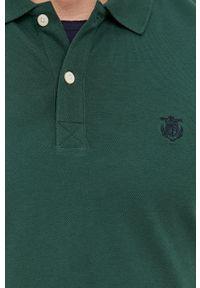 Selected - Polo. Okazja: na co dzień. Typ kołnierza: polo. Kolor: zielony. Materiał: dzianina. Długość: krótkie. Wzór: gładki. Styl: casual