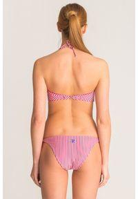 Różowo-srebrny dół od bikini Twinset U&B w paski. Kolor: wielokolorowy, różowy, srebrny. Wzór: paski