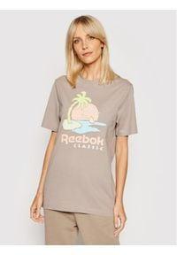 Reebok T-Shirt Unisex Classics Graphic GN3672 Szary Regular Fit. Kolor: szary