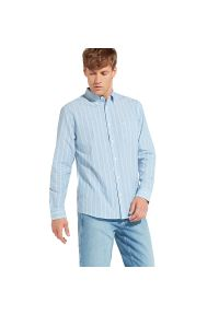 Niebieska koszula Wrangler vintage, w paski, button down