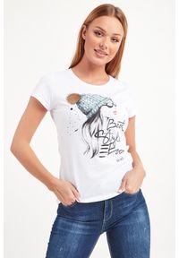 T-shirt Liu Jo na co dzień, w kolorowe wzory