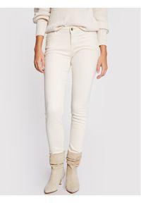 Beżowe jeansy slim Morgan