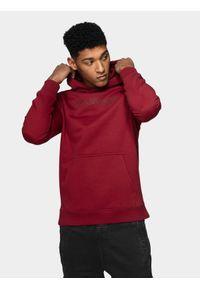 Czerwona bluza nierozpinana 4f casualowa, na co dzień