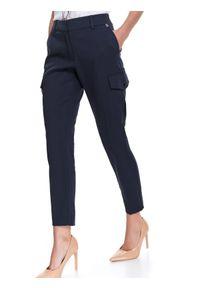 Niebieskie spodnie TOP SECRET na wiosnę, w kolorowe wzory