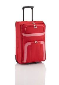 Travelite - TRAVELITE ORLANDO Walizka duża 80L Rot 2-koła. Kolor: czerwony. Materiał: materiał, poliester