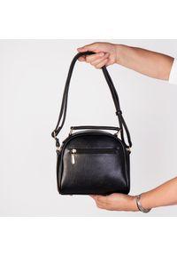 Czarna torebka Arturo Vicci jodełka, na ramię