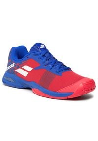 Babolat - Buty BABOLAT - Jet All Court Junior 33F20648 Poppy Red/Estate Blue. Kolor: czerwony. Materiał: skóra ekologiczna, materiał, skóra. Szerokość cholewki: normalna
