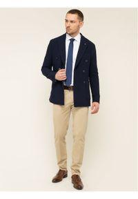 TOMMY HILFIGER - Tommy Hilfiger Tailored Marynarka Double Breasted TT0TT06684 Granatowy Slim Fit. Kolor: niebieski