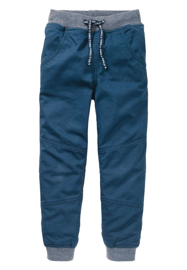 Niebieskie spodnie bonprix długie