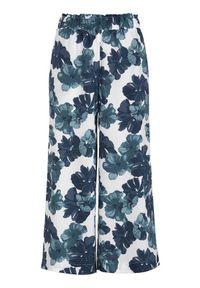 Cellbes Wzorzyste spodnie typu culotte niebieski we wzory female niebieski/ze wzorem 38/40. Kolor: niebieski. Materiał: wiskoza, włókno, guma, materiał. Styl: klasyczny