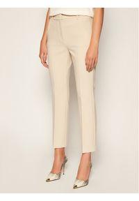 Beżowe spodnie materiałowe Weekend Max Mara