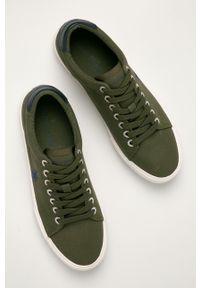 U.S. Polo Assn. - Tenisówki. Nosek buta: okrągły. Zapięcie: sznurówki. Kolor: zielony. Materiał: guma