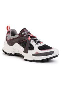 Czarne buty trekkingowe ecco trekkingowe, z cholewką