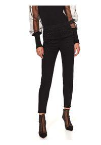 Czarne spodnie TOP SECRET z aplikacjami