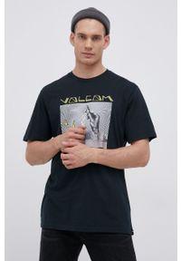 Volcom - T-shirt bawełniany. Kolor: zielony. Materiał: bawełna. Wzór: nadruk
