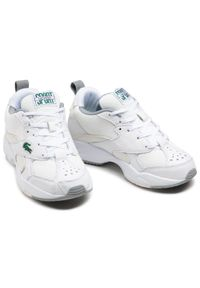 Lacoste - Sneakersy LACOSTE - Storm 96 120 2 Sfa 7-39SFA005565T Wht/Off Wht. Okazja: na co dzień. Kolor: biały. Materiał: materiał, skóra. Szerokość cholewki: normalna. Sezon: lato. Styl: casual