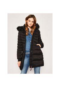 Czarny płaszcz zimowy TOMMY HILFIGER