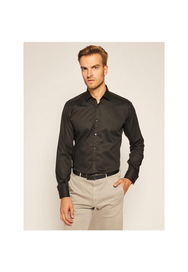 Czarna koszula Karl Lagerfeld z dekoltem karo