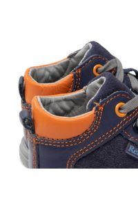 RenBut - Trzewiki RENBUT - 13-1442 Granat/Pomarańcz. Kolor: niebieski. Materiał: skóra, zamsz. Szerokość cholewki: normalna. Sezon: zima #4