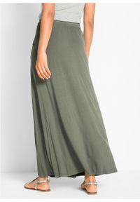 Spódnica z dżerseju bonprix oliwkowy. Kolor: zielony. Materiał: jersey