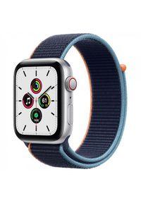 Srebrny zegarek APPLE smartwatch, sportowy