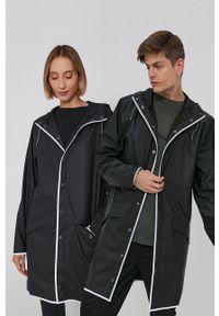 Rains - Kurtka przeciwdeszczowa 1202 Long Jacket. Typ kołnierza: kaptur. Kolor: czarny