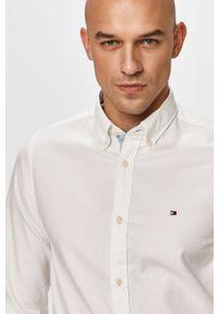 Biała koszula TOMMY HILFIGER na co dzień, casualowa, button down