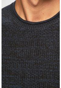 Niebieski sweter Blend na co dzień, z okrągłym kołnierzem, casualowy