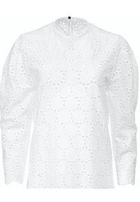 ANIA KUCZYŃSKA - Biała sukienka midi Modesta Bianca. Kolor: biały. Materiał: koronka, bawełna. Wzór: koronka. Sezon: lato. Typ sukienki: kopertowe. Styl: elegancki, klasyczny, retro. Długość: midi