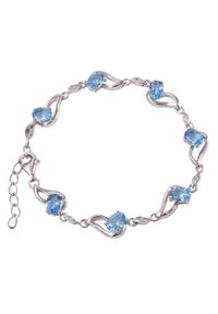 Braccatta - ARIA; Srebrna bransoletka z blue topazami 6,6 ct. Materiał: srebrne. Kolor: srebrny. Kamień szlachetny: topaz
