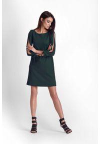 Zielona sukienka IVON trapezowa