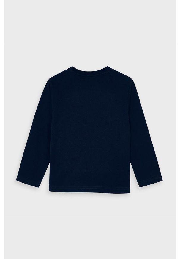 Niebieska koszulka z długim rękawem Mayoral z nadrukiem, casualowa