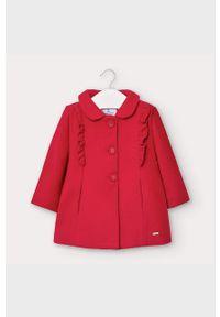 Czerwony płaszcz Mayoral krótki, bez kaptura