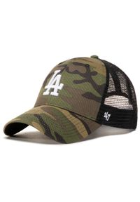 47 Brand - Czapka z daszkiem 47 BRAND - Mlb Los Angeles Dodgers Branson B-CBRAN12GWP-CMD Camo. Kolor: zielony. Materiał: materiał, bawełna, poliester