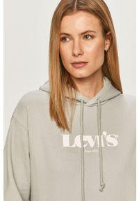 Levi's® - Levi's - Bluza bawełniana. Okazja: na spotkanie biznesowe. Kolor: szary. Materiał: bawełna. Długość rękawa: długi rękaw. Długość: długie. Wzór: nadruk. Styl: biznesowy