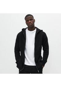 Czarna bluza Reserved długa, z kapturem