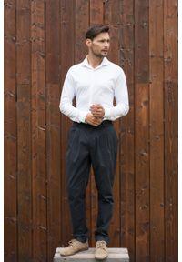 Biała koszula VEVA długa, na co dzień, klasyczna