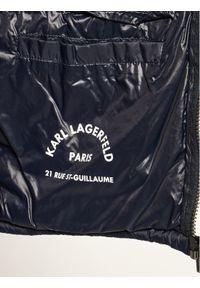 Niebieska kurtka Karl Lagerfeld z dekoltem karo