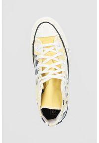 Converse - Trampki. Nosek buta: okrągły. Zapięcie: sznurówki. Kolor: żółty. Materiał: guma. Obcas: na platformie